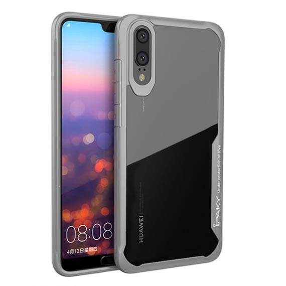 TPU+PC чехол iPaky Luckcool Series для Huawei P20 (Серый)