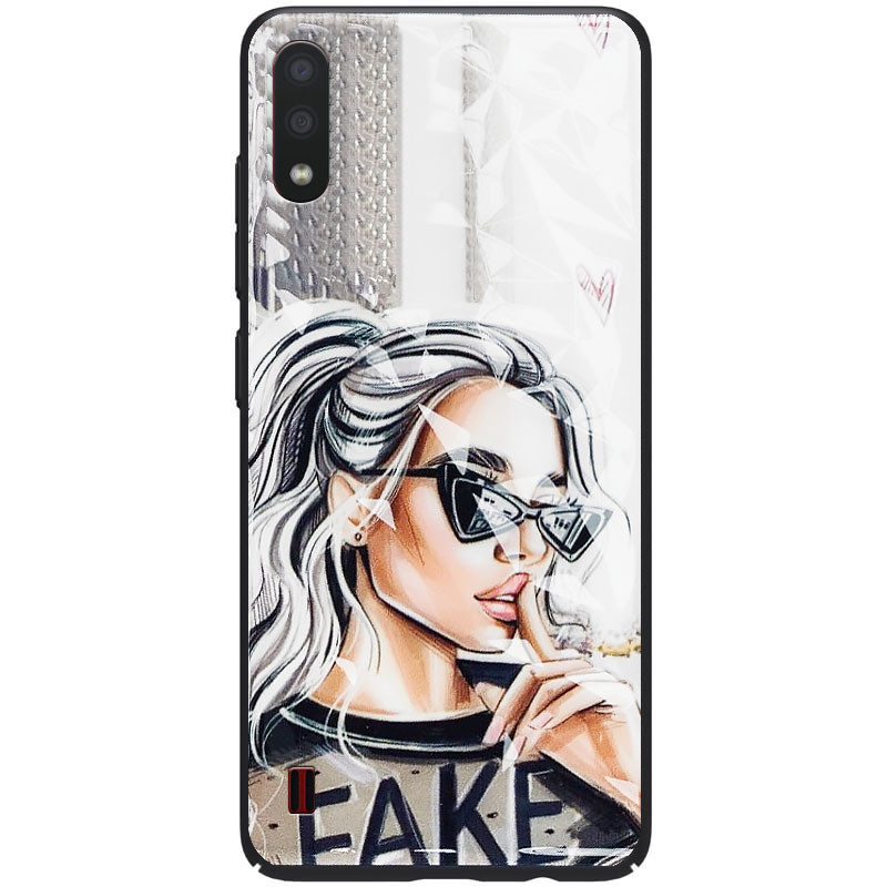 TPU+PC чехол Prisma Ladies для Samsung Galaxy A01 (Fake)