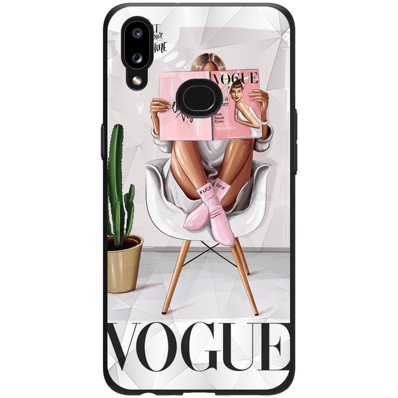 TPU+PC чехол Prisma Ladies для Samsung Galaxy A10s (Vogue)