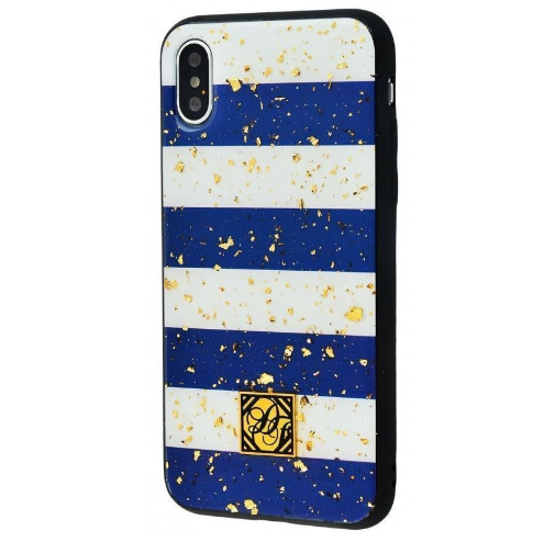 "TPU+PC ""Confetti Print"" для Apple iPhone X / XS (5.8"") (Синие полосы)"