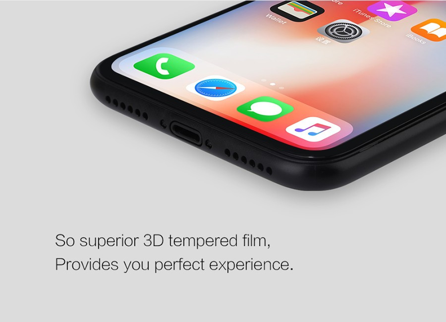 Фото Защитное стекло Nillkin Anti-Explosion Glass Screen (CP+ max 3D) для Apple iPhone X (5.8