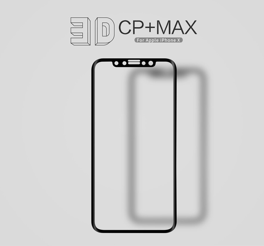 Защитное стекло Nillkin Anti-Explosion Glass Screen (CP+ max 3D) для Apple iPhone X (5.8