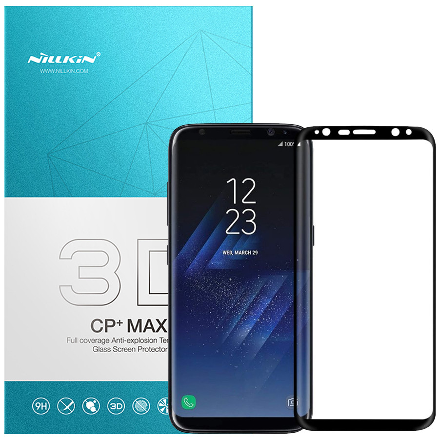 Защитное стекло Nillkin Anti-Explosion Glass Screen (CP+ max 3D) для Samsung Galaxy S8 (G950) (Черный)