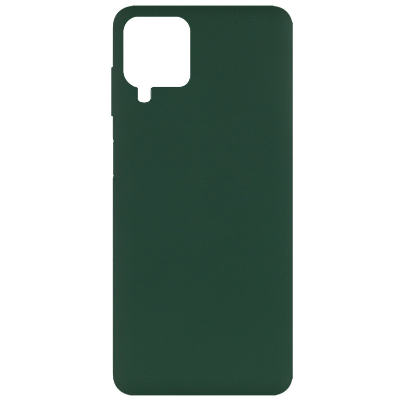 Фото Чехол Silicone Cover Full without Logo (A) для Samsung Galaxy A12 Зеленый / Dark green на onecase.com.ua