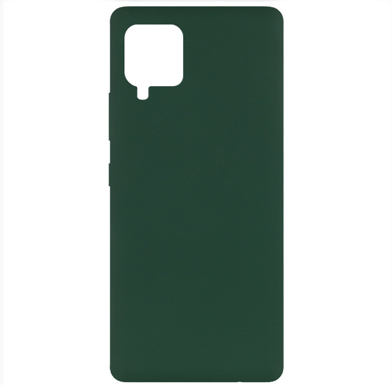 Фото Чехол Silicone Cover Full without Logo (A) для Samsung Galaxy A42 5G Зеленый / Dark green на onecase.com.ua