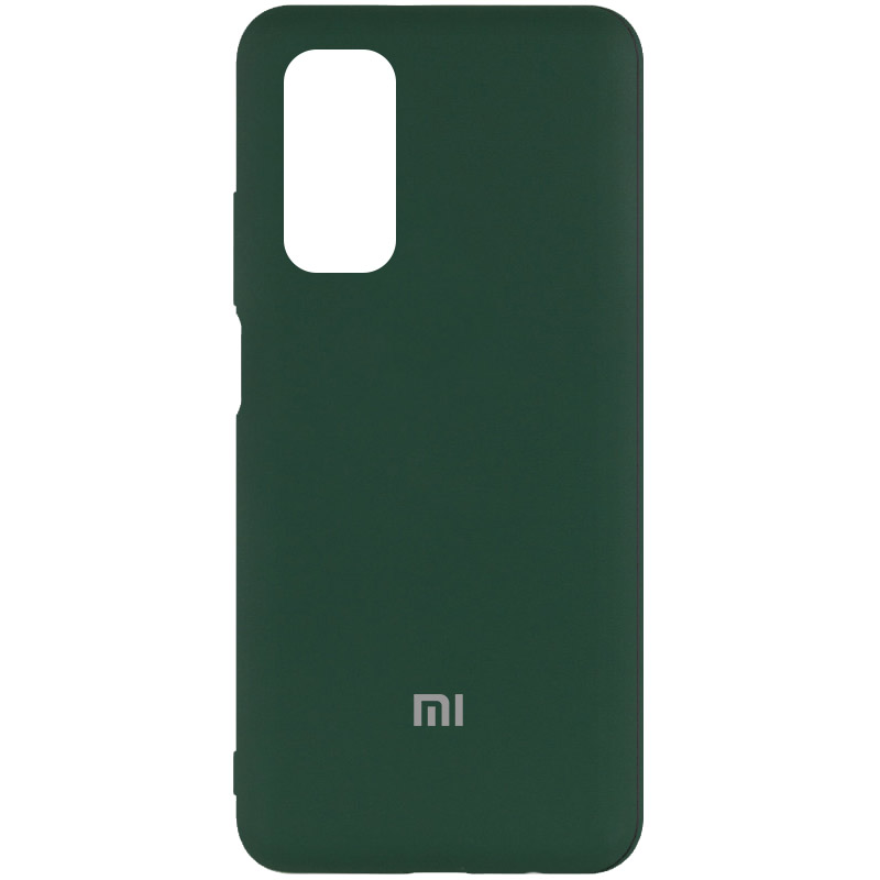 Чехол Silicone Cover My Color Full Protective (A) для Xiaomi Mi 10T Pro (Зеленый / Dark green)