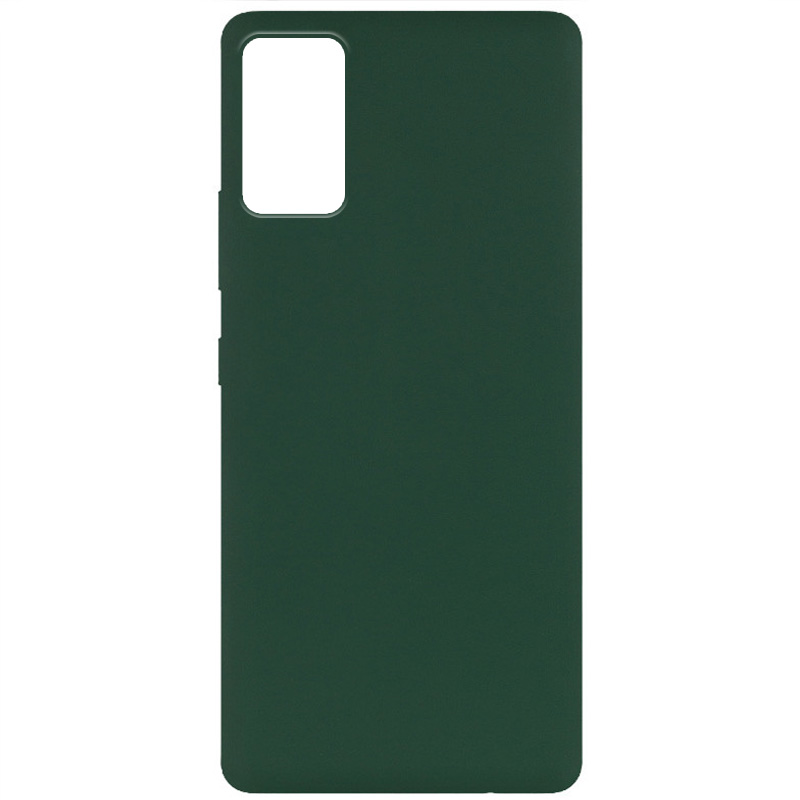 Чехол Silicone Cover Full without Logo (A) для Xiaomi Redmi Note 9 4G / Redmi 9 Power / Redmi 9T (Зеленый / Dark green)