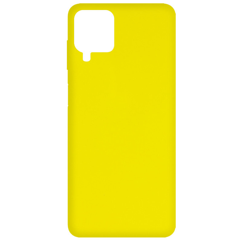 Фото Чехол Silicone Cover Full without Logo (A) для Samsung Galaxy A12 Желтый / Flash на onecase.com.ua