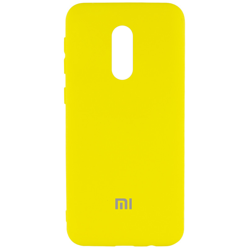 Чехол Silicone Cover My Color Full Protective (A) для Xiaomi Redmi Note 4X (Желтый / Flash)